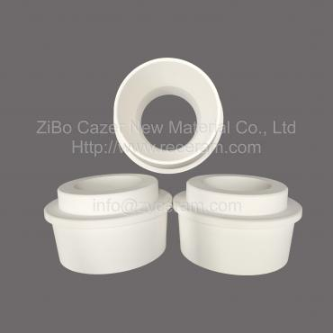 Aluminum titanate sprue bush for low pressure die casting