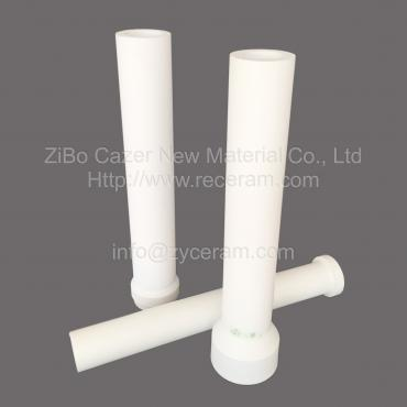 Aluminum titanate ceramic riser tube for wheel hub making